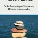 Peace Pebbles Pin