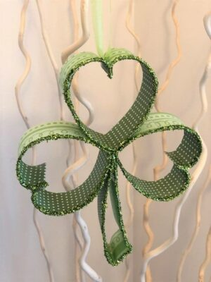 Green Shamrock with Green Glitter